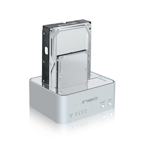 USB 3.0 to SATA III Hard Drive Docking Station for 2.5-inch and 3.5-inch HDD and SSD Up To 4TB