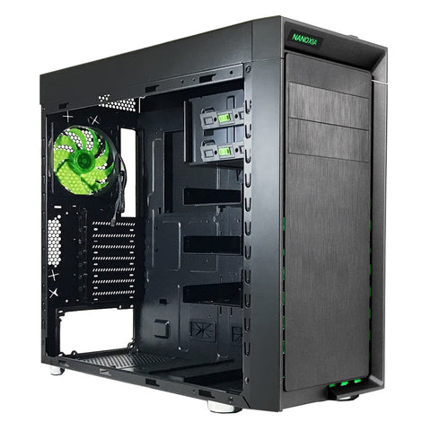 Nanoxia 1 ATX Mid Tower Case (Fits Thick/Big 360 mm Radiators)
