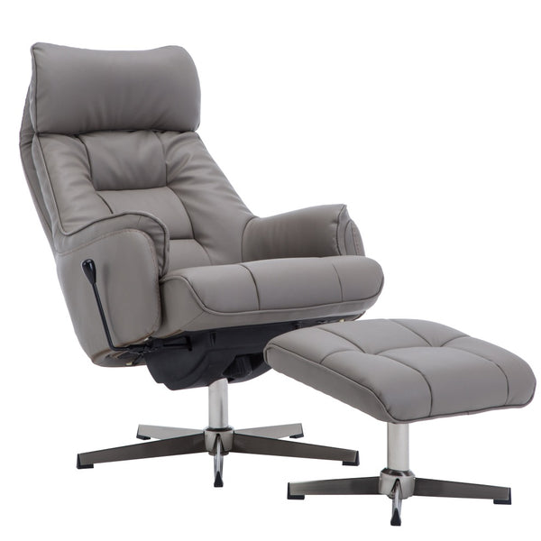 Auckland Top Quality Plush PU Recliner Chair