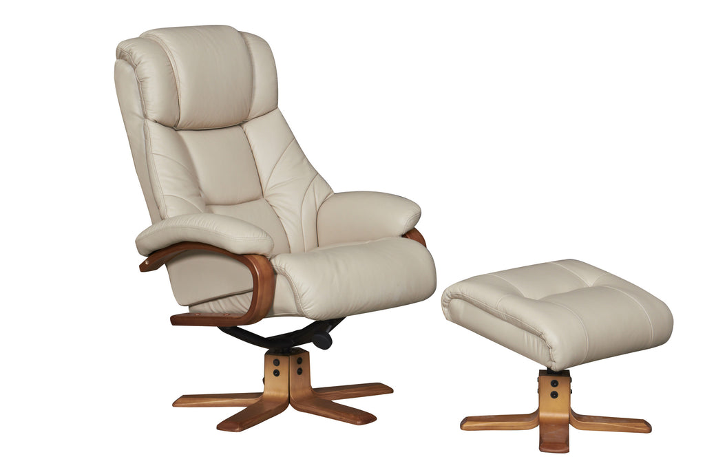 Cologne ALL REAL LEATHER Swivel Recliner