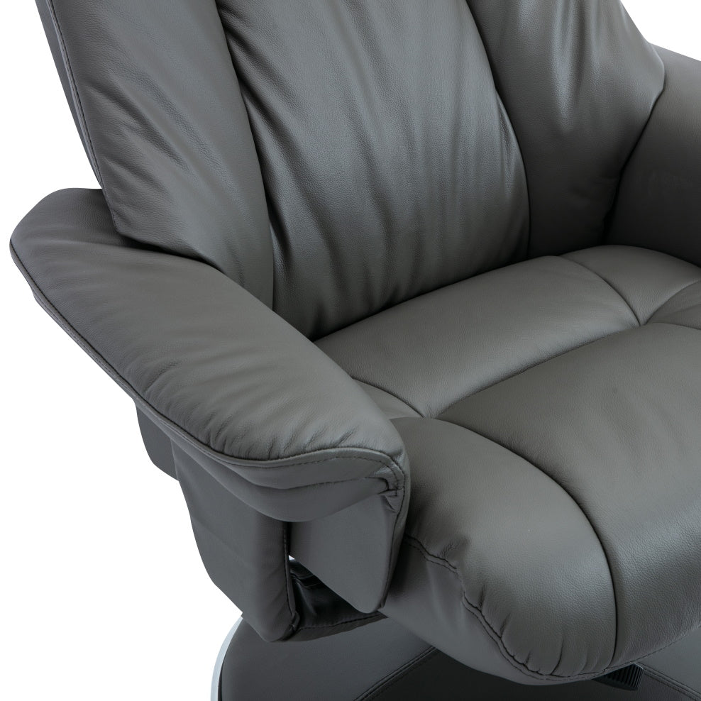Denver REAL LEATHER Luxury Recliner Chair