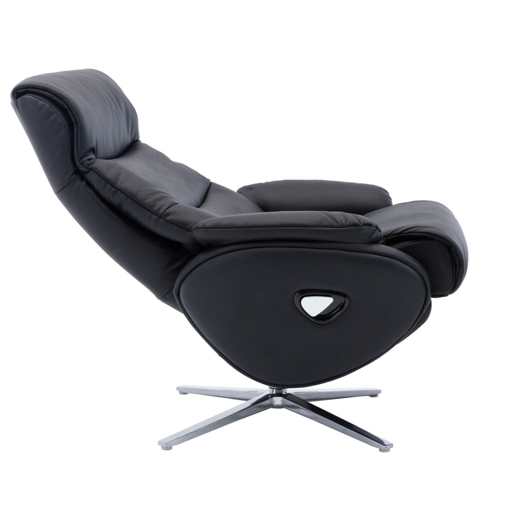 Dominican Real Leather Swivel Recliner