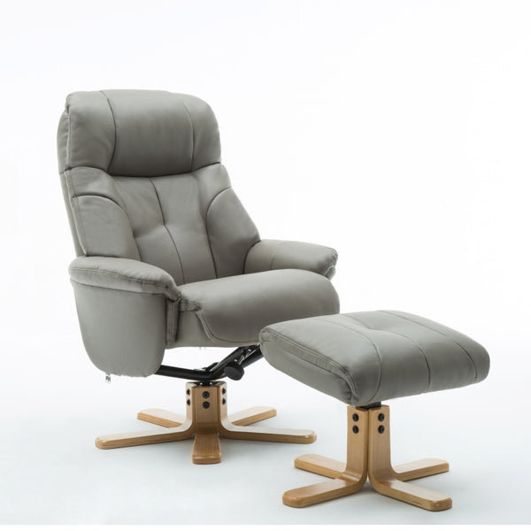 Dubai Luxury Swivel Recliner with Stool