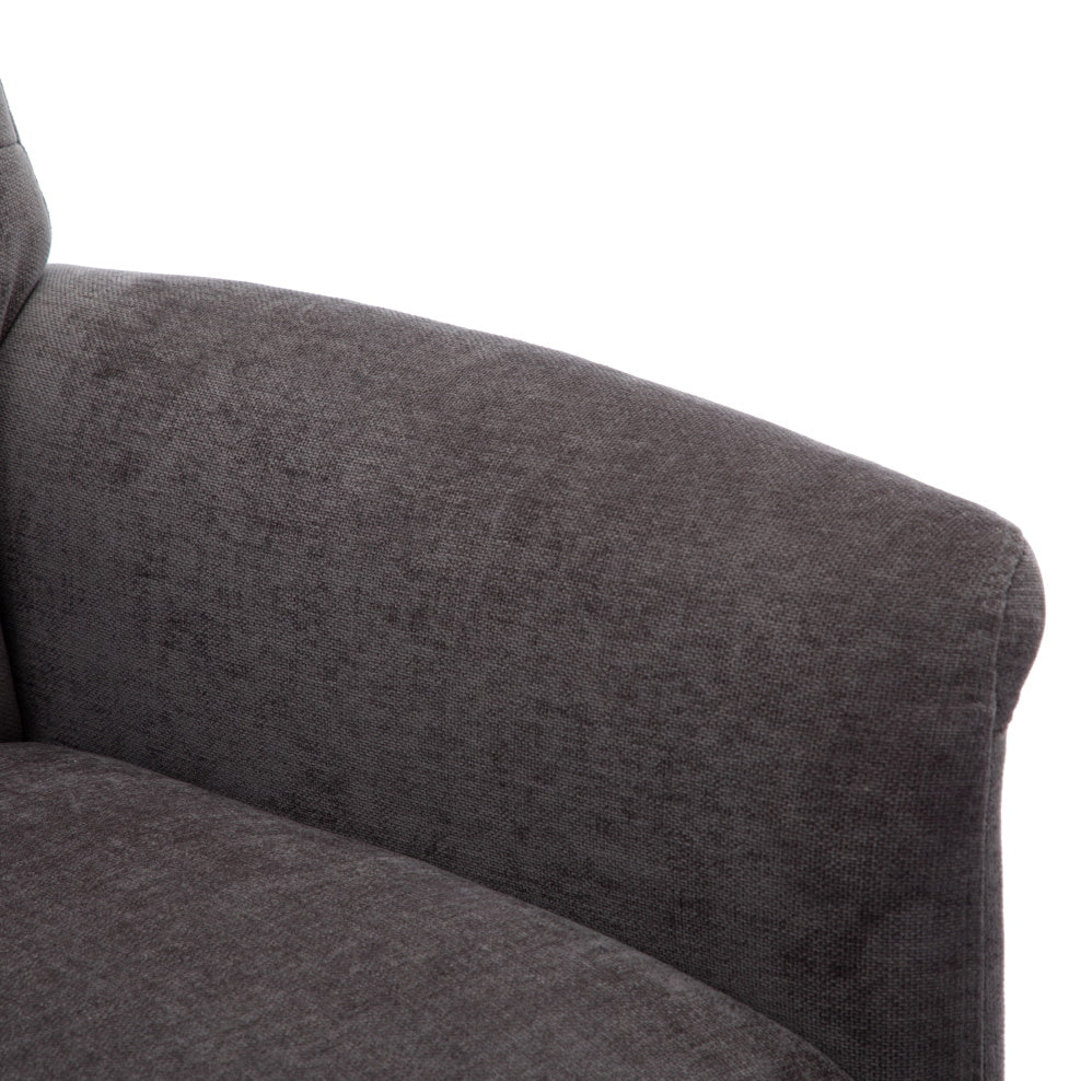 Ontario Powered Fabric Swivel Recliner