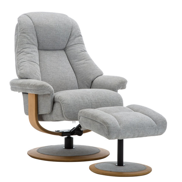Jersey Luxury Fabric Swivel Recliner