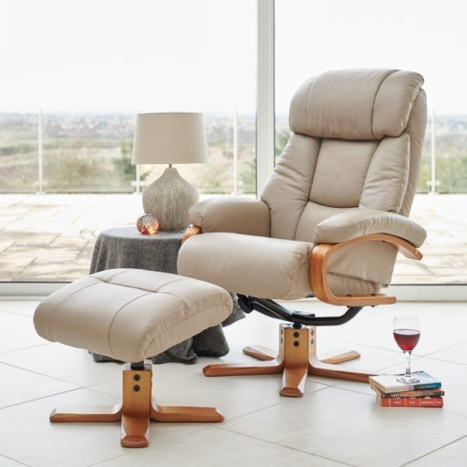 Nice Luxury Real Leather Recliner Chair