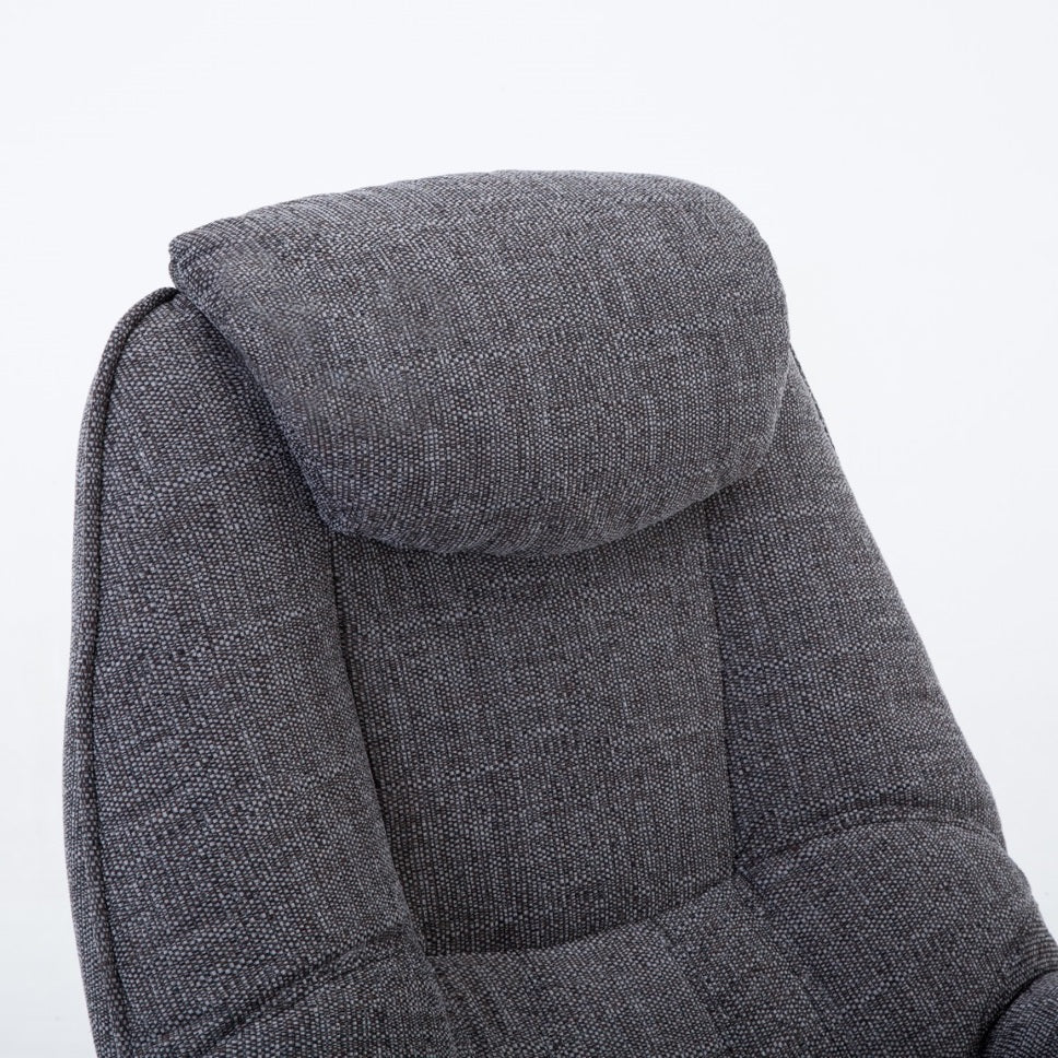 Pisa Luxury Fabric Swivel Recliner Chair