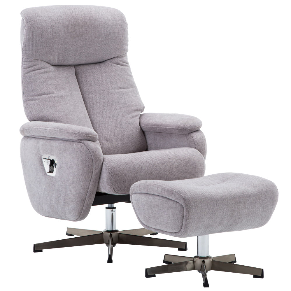Santorini Deluxe Fabric Swivel Recliner