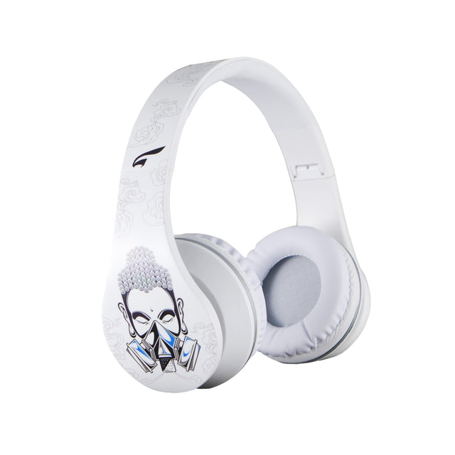 Headphones - Urban Zen Headphones With Volume Control And Premium Case, For Kids Women Travel Work And Music (Buddha White)