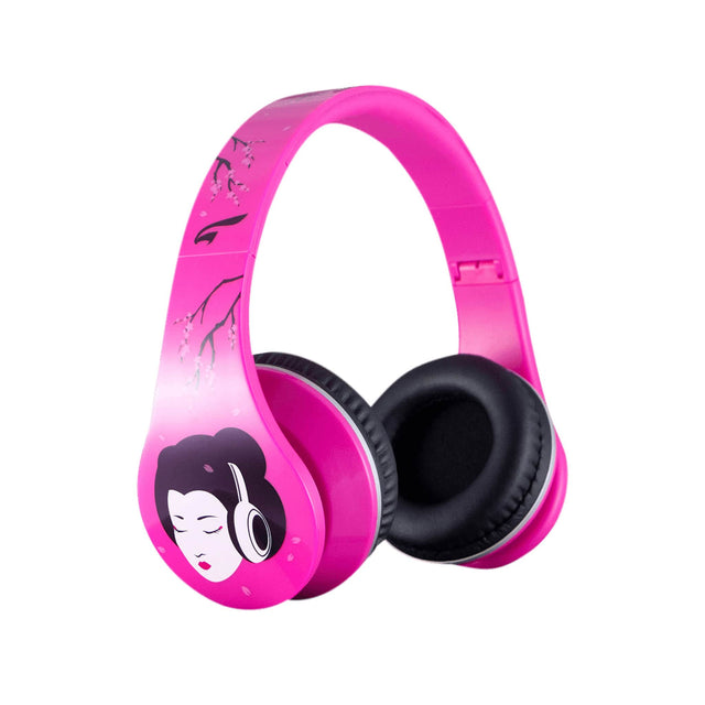 Headphones - Urban Zen Headphones With Volume Control And Premium Case, For Kids Women Travel Work And Music (Geisha Pink)