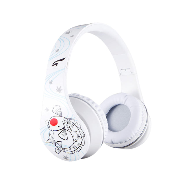 Headphones - Urban Zen Headphones With Volume Control And Premium Case, For Kids Women Travel Work And Music (Koi White)