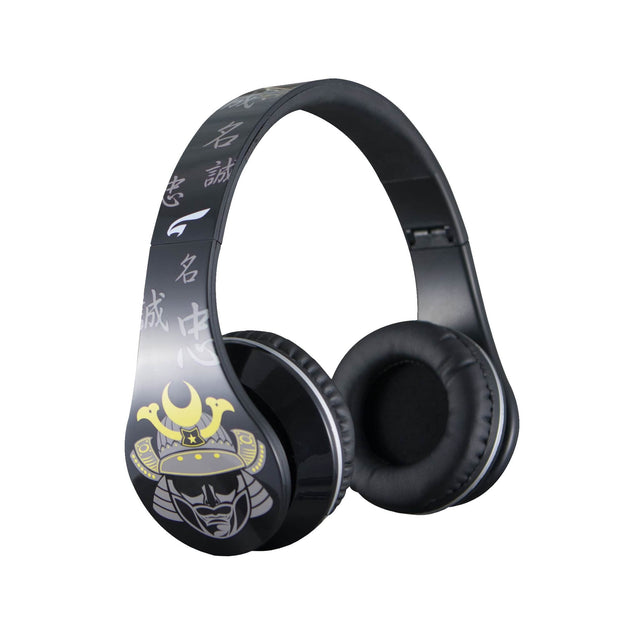 Headphones - Urban Zen Headphones With Volume Control And Premium Case, For Kids Women Travel Work And Music (Samurai Black)