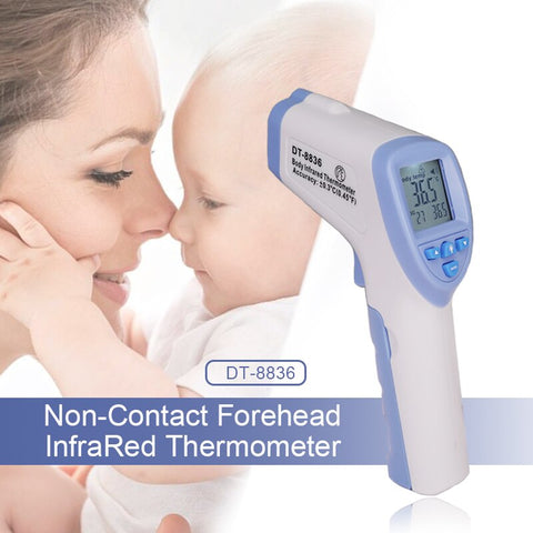 10PCS/LOT DT-8836 Forehead Infrared Thermometer Gun Portable Non-contact Baby Fast Measurement Temperature Digital IR Device - SexyHeksieLingerie