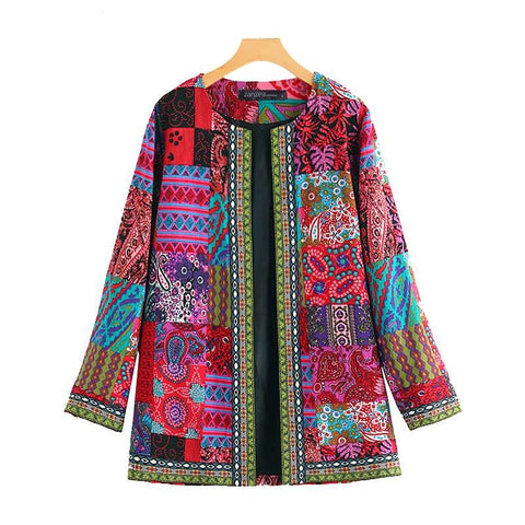 Women's Cardigan Kaftan Print Coats Long Sleeve Jackets Casual Plus Size  Overcoat - SexyHeksieLingerie