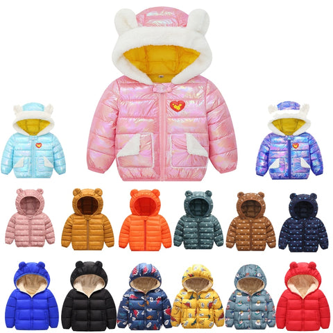Autumn Winter Baby Girls Jacket For Boys Coat Kids Warm Outerwear Coat For Boys Clothes Children Jacket 1 2 3 4 5 Year