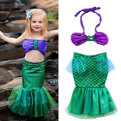 Fashion Sequins Newborn Baby Girls Bowknot Lace Patchwork Bikinis Costume Outfits - SexyHeksieLingerie