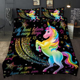 3D Print Unicorn Bedding Set Duvet cover set adult / child duvet cover+pillowcase fashion bed linen - sexyheksie