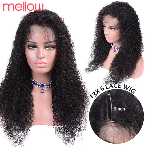 Brazilian Jerry Curl Wig  Lace Front Wig Curly Lace Front Human Hair Wig Pre Plucked 130 180 Density 13X4 Remy For Women