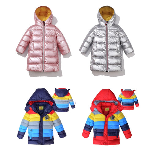 Children Jackets Boys Stripe Winter Down Coat 2020 Baby Winter Coat Kids warm outerwear Hooded Coat for 2-14T Children Clothes