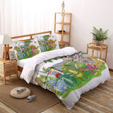 Colourful  Dinosaur Drawings 4 Piece Bedding Set  Duvet Cover Set - sexyheksie