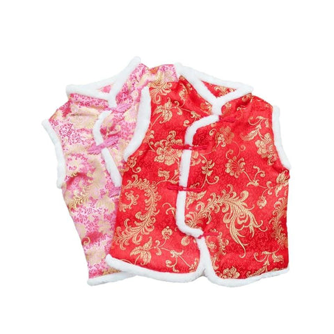 Chinese Spring Festival New Year Tang suit traditional clothing Phoenix flower pattern embroidery 2-6 years old - SexyHeksieLingerie