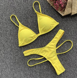 High Waist Bikini Set  Women's  Hot Sexy Swimwear Bathing Suit Neon Summer Beachwear - SexyHeksieLingerie