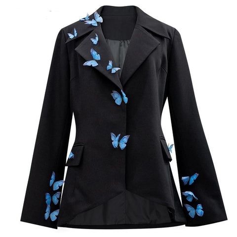 Irregular Temperament Blazer New Lapel Long Sleeve Loose Jacket Fashion Tide  13T511 - SexyHeksieLingerie