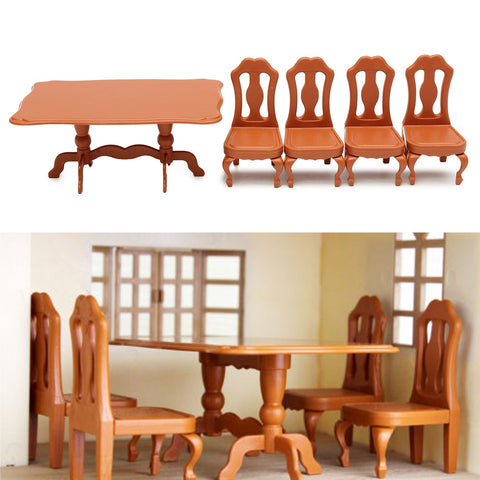DIY Miniatura Furniture Dining Tables Chairs Sets For Mini Doll House Miniatures Furniture Toys Gifts For Children Adult - SexyHeksieLingerie