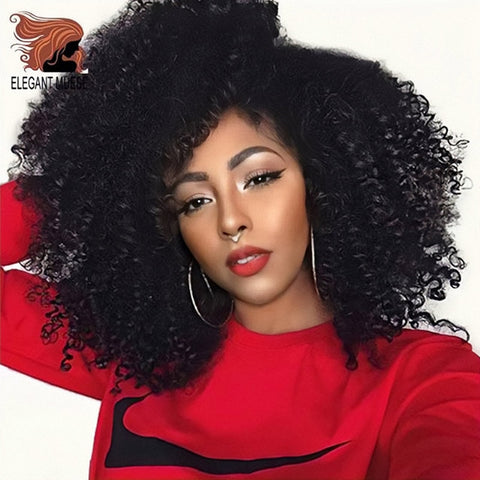 Synthetic Jerry Curl Ombre Kinky Curly hair Crochet braids Hair Extensions for Women