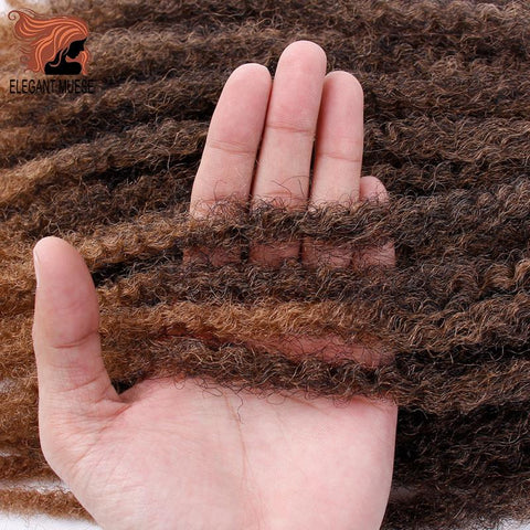 Jumbo Crochet Braids Hair Ombre Afro Kinki Soft Synthetic Marley Braiding Hair Crochet Hair Extensions Bulk