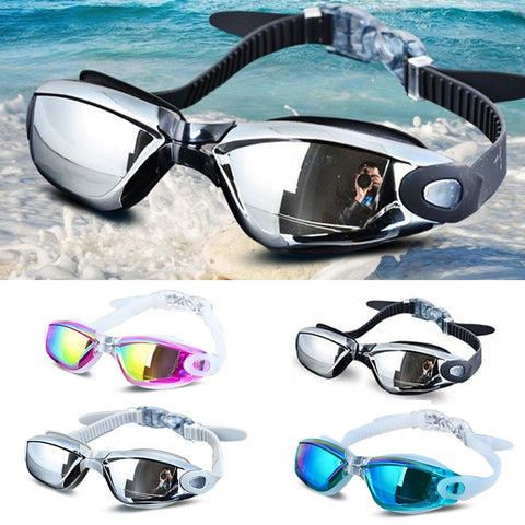 Electroplating UV Waterproof Anti fog  Eyewear Swim Diving  Glasses  Adjustable Swimming Goggles - sexyheksie