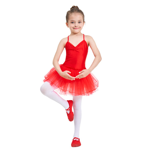 Ballet Tutu Dress Girl Leotard Gymnastics Ballet Clothes  Kids DanceWear - SexyHeksieLingerie