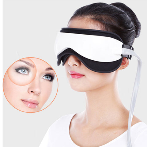 Eye Massager Pressure Infrared Heating Hot Compress Massage Glasses Portable Electric Eyes Care Device Wire Control Music