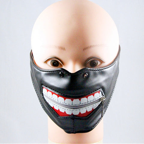 Fashion Motorcycle Punk Rock Face Mask Hip-hop Halloween Party Leather Mask Cosplay Hallow Mask - SexyHeksieLingerie