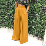 Fashion Personality Trumpet Trousers Wide Leg Casual Pants - SexyHeksieLingerie