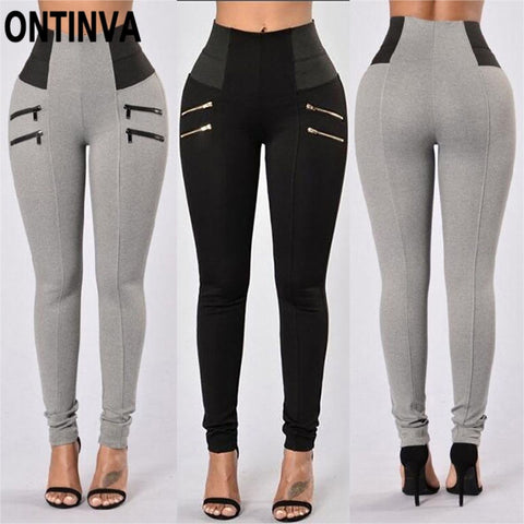 High Waist Skinny Pencil Pants for Women Push Up Fall Fashion Office Ladies Pantalon Legging Ropa Mujer Black Red Grey S M L XXL