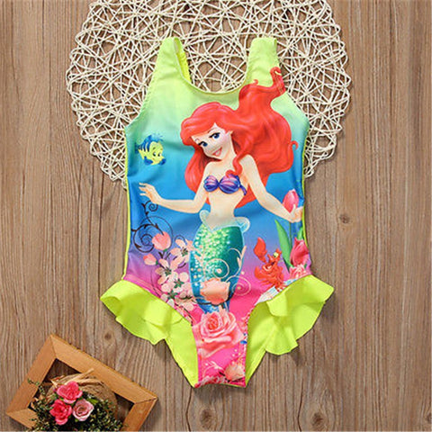 Kids Baby Girls Toddler Ariel Swimsuit Swimwear Bathing Suit - sexyheksie