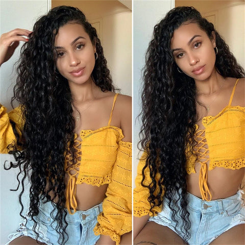 Lace Front Human Hair Wigs Peruvian Lace Fronatl Water Wave Human Hair Lace Front Wigs Pre Plucked With Baby Hair Women