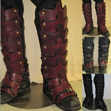 PU Leather  Half Leg Kit Armour Costume Cosplay Adult Rider Boot Cover For Men Stage Cosplay prop - SexyHeksieLingerie