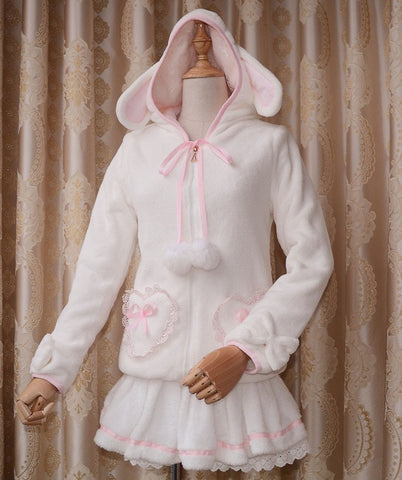 Lolita Hooded Sweater Coat  Kawali Jacket or Skirt Price per each - SexyHeksieLingerie