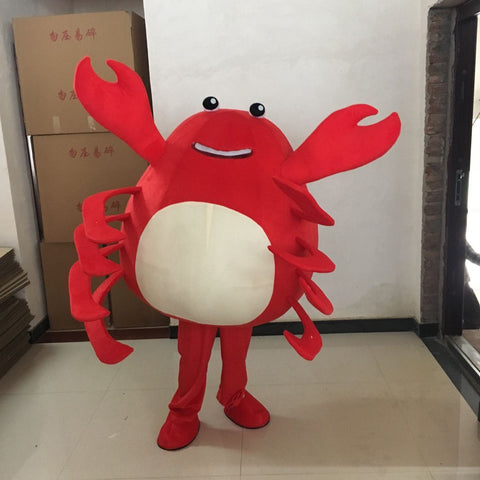 Make EVA Material Red Crab Mascot Costumes Unisex Cartoon Apparel Cosplay Custom Made Adult Size Fancy Dress Carnival Party - SexyHeksieLingerie