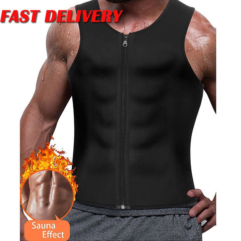 New 2020 Mens Slimming BODY SHAPER Neoprene Weight Loss Vest Sweat Suit Sauna Shirt - SexyHeksieLingerie