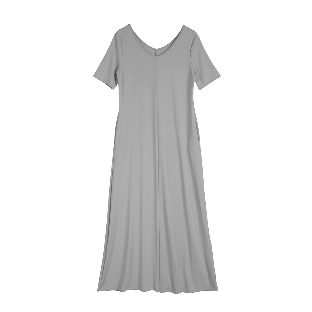 Casual Women's Solid Color Long Maxi Dress Plus Size S-3XL Beach Cover-up - SexyHeksieLingerie