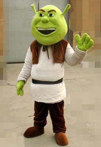 New Shrek Mascot Costume Adult For Halloween! Party Prop