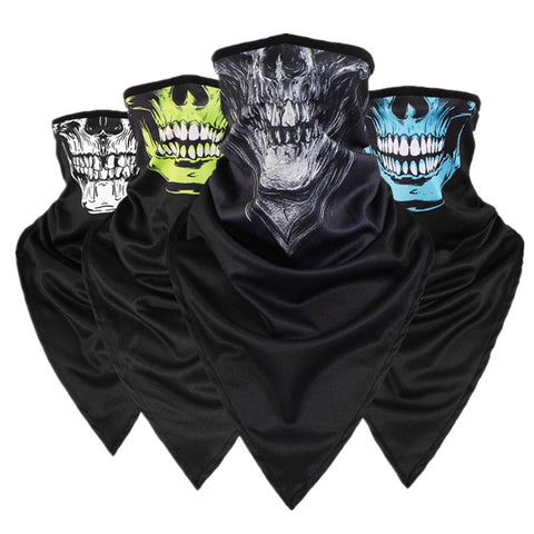 Outdoor Quick-drying Breathable Skull Triangular Scarf Anti-terrorism Mask CS Collar Full Face Mask Windproof sSunscreen Mask - SexyHeksieLingerie