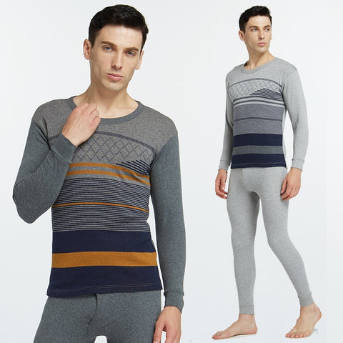 Plus Size Men's  Fashion Thermal Underwear  Male Autumn Winter Clothes - SexyHeksieLingerie