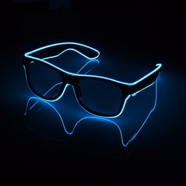Standard Luminous LED  EL Wire Fashion Neon Dancing Party Bar Glow Rave Atmosphere DJ Bright Glasses Prop - sexyheksie