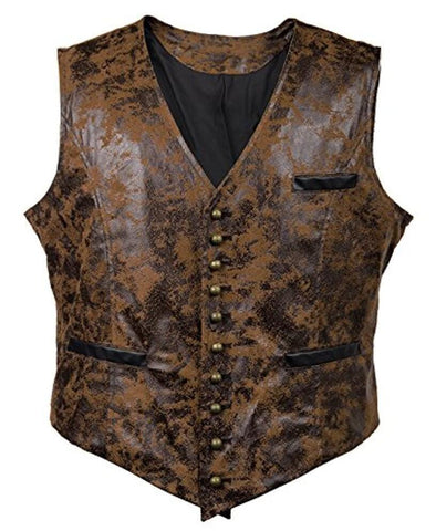 Suede Slim Single Breasted Men Vest Suit 2020 Brand New Vintage V-Neck Vests Steampunk Casual Retro Waistcoat For Wedding Gilet