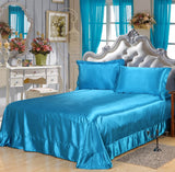 Wholesale!Soft  95%Silk+5%Cotton skin SATIN SILK Bed Sheet Bedding Set Home Textile,Pillowcase - sexyheksie