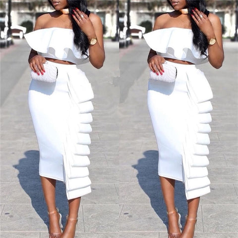 Women 2 Piece Set OR Crop Top Or  Skirt Sexy  Fashion Bodycon Party Wear Suit